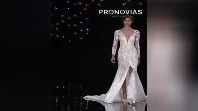 时装画蕾丝婚纱