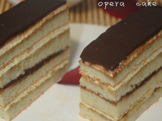 法式甜点欧培拉蛋糕的做法步骤