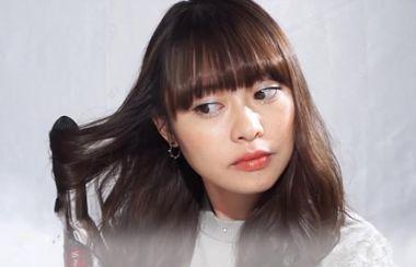 长发平刘海发型
