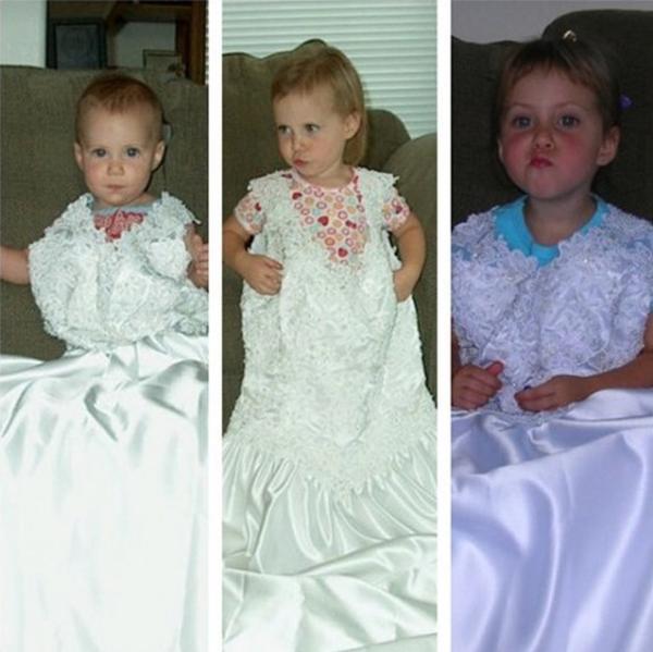 小孩子婚纱裙