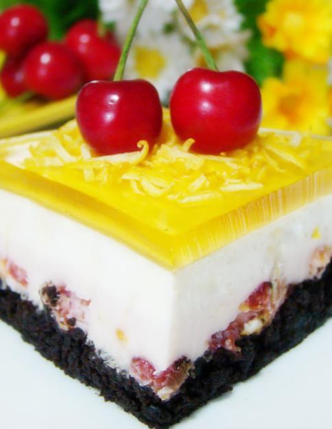 品尝更多口味的慕斯,分享一款双层慕斯——柠?#35270;?#26691;双层慕斯蛋糕