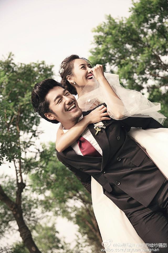 胖妹妹拍婚纱照图片
