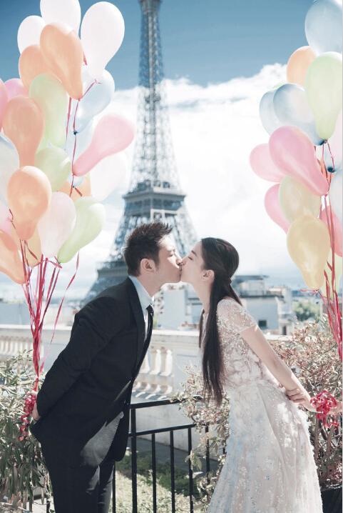 巴黎婚纱照图片