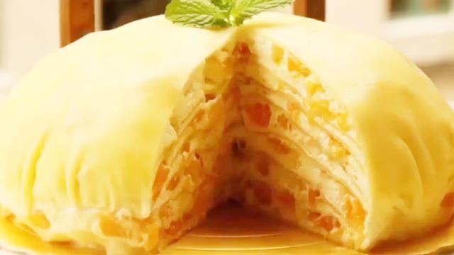 不用烤箱的也可以做的网红甜品芒果千层蛋糕,零基础,适合新手