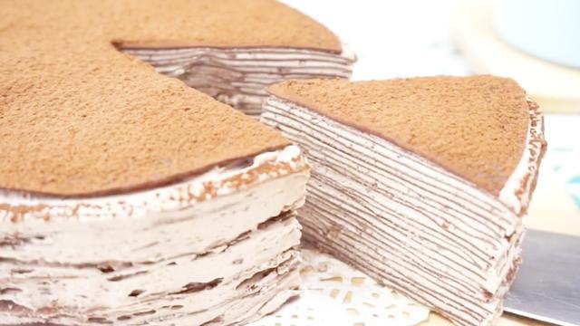 无需烤箱也可以做的网红甜品,巧克力千层蛋糕,附详细配方和做法