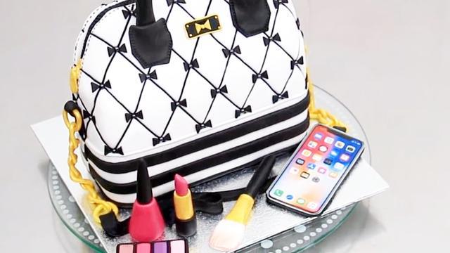 这个超漂亮的时尚爱马仕包包,居然是翻糖蛋糕做成的?送给妈妈吧