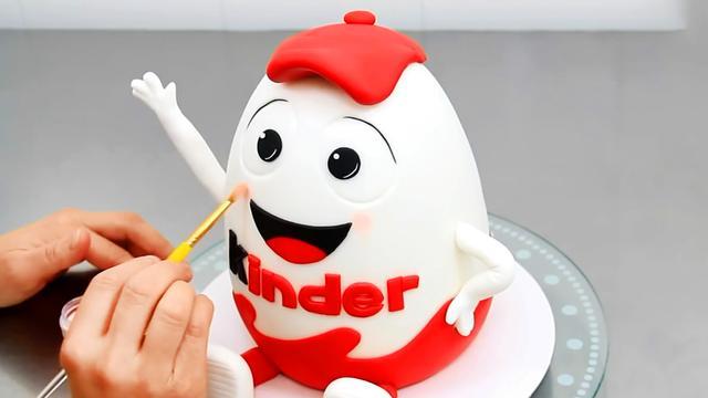 1比100放大的奇趣蛋卡通蛋糕,这是我见过最逼真的,没有之一!