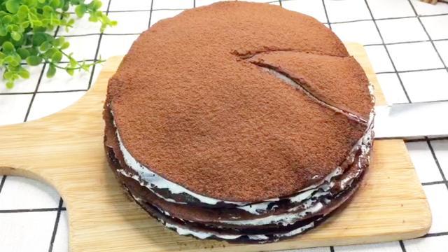网红甜品奥利奥可可千层蛋糕,在家就可以做,附食材用料和做法