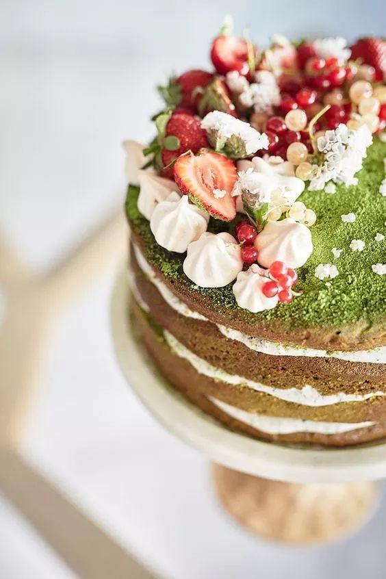 谁说蛋糕只能巧克力装饰了,用水果简单装饰出来的50款蛋糕,美极了!