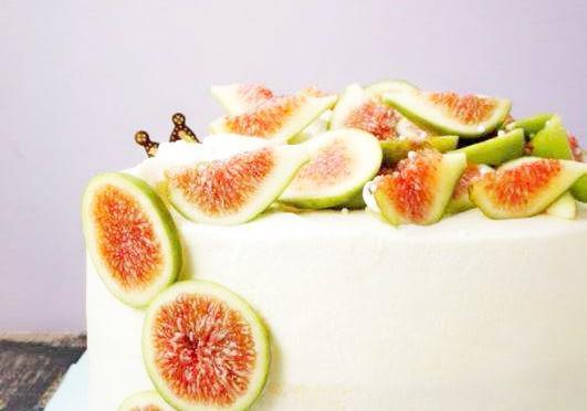 「无花果奶油蛋糕」人人都能做出美丽的蛋糕,简单易上手