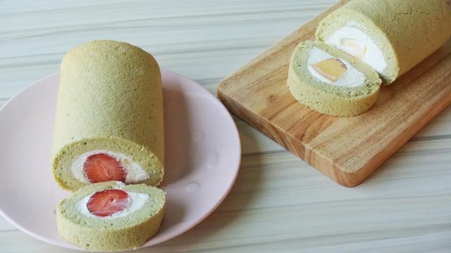 水果抹茶蛋糕卷的制作方法,味道清新好吃不腻