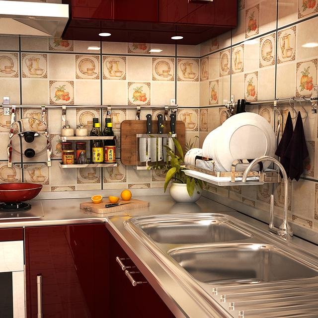 厨房太乱了?灶台的小帮手收纳架,瓶瓶罐罐帮你全收了,整洁美观