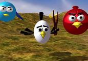 愤怒的小鸟在水果忍者3D动画仿冒FunoTV风格