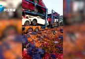 惨烈!大广高速公路多车连环撞车祸现场 多为货车、快递车
