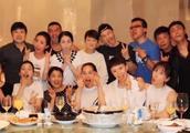 黄晓明带baby参加同学聚会和陈坤同框,赵薇遗憾未参加!