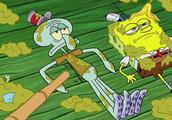 海绵宝宝和章鱼哥把垃圾堆压爆,蟹堡王被炸得乱七八糟,尴尬了