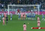 西甲:德比战!梅西任意球双响助巴萨客场4-0横扫西班牙人