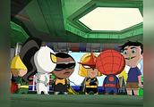 终极蜘蛛侠,在神盾的托儿所里发现一个流鼻涕的小孩,原来是洛基