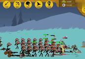 笨鸟解说火柴人战争,无尽僵尸模式持续伤亡的盾牌战士