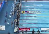 短池游泳世锦赛,男女混合泳接力,美国小伙上演一男追七女!厉害