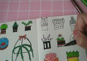 一些植物简笔画,很适合当手帐素材,简单实用
