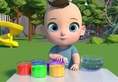 小宝宝来制作彩色小汽车