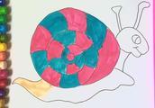 画一只可爱的大蜗牛!
