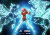 圣斗士星矢,继承了星星大魔王绝技的少女翔,释放出了小马流星拳