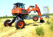 老司机一言不合就炫技,来看看挖掘机到底能站多高!
