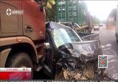 高速公路上六车连撞 疑重型火车刹车故障