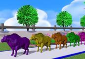 彩色的小兔子变 黄牛 狼 ,小鸡 大象 奶牛