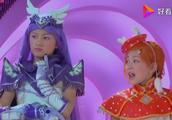 舞法天女粉、橙、紫、绿四位天女一起跳舞我觉得紫色的最好看