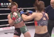 重拳重肘日本女人被打的血流满面!日本裁判护犊子直接停止比赛!
