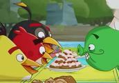 愤怒的小鸟 钢盔猪请小鸟吃饭 计谋失败