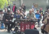 天坛公园神笛, 民乐合奏《万岁毛主席》, 听起来真亲切! (倩)