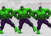 少儿亲子:绿巨人不停的变换颜色!很好玩!
