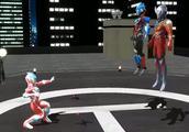 欧布奥特曼学会了分身术,银河奥特曼现身后将他打跑