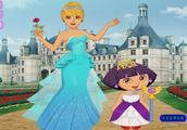爱探险的朵拉亲子小游戏 朵拉和妈妈的迪士尼亲子装