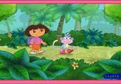 爱探险的朵拉亲子小游戏 朵拉失落的情书益智游戏视频