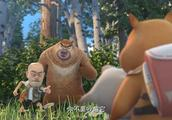 熊出没之探险日记2:为了抢到小狗,光头强险些掉入悬崖