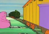 巴巴爸爸:巴巴爸爸当上火车站站长,一列火车车闸掉落自己开走了