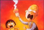樱桃小丸子爷爷真是好疼爱小丸子,听到火灾先叫小丸子和他走