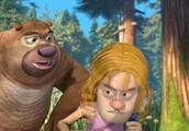 熊出没之探险日记2:光头强男扮女装与小狗玩耍,最后被发现了