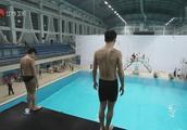 王栎鑫不敢跳五米台,女教练用激将法说他丢人都没用!