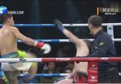 胡亚非暴力高鞭腿KO谢尔盖,都宣布完胜者了老外还倒地不起!