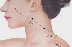 肩井穴:归属足少阳胆经、可缓解中风、难产、乳腺炎、神经衰弱!
