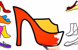 简画高跟鞋图片 高跟鞋简笔画怎么画