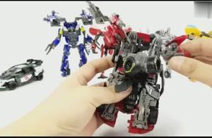 赤红暴风机甲变形金刚玩具拥有两种形态小巧高质量