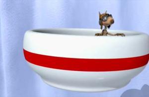 倒霉熊之茶杯旅行记松鼠捶打茶杯飞行器,白熊砸的急速下降!