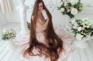 漂亮的长发公主,女神的长发太美了,就是有点费洗发水